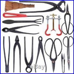 Bonsai Tool Set Carbon Steel Extensive 14-pc Kit Cutter Scissors With Nylon Case