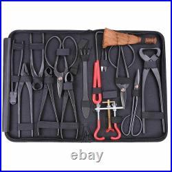 Bonsai Tools Set Carbon Steel Extensive Kit Cutter Scissors with Case