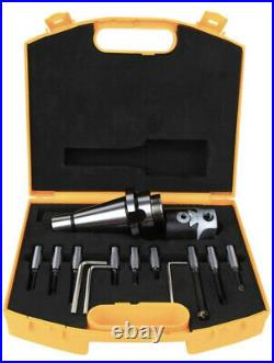 Boring Cutter Set Carbon Steel CNC Milling Tool with Storage Box NT40 / ISO40