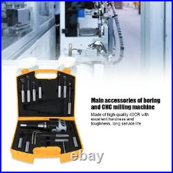 Boring Head Cutter Set 40CR Accuracy CNC Milling Tool Kit R8F1-3/4-12PCS