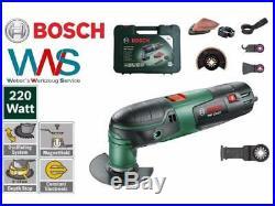 Bosch PMF 220 CE Multicutter Set + 3 Sägeblätter + Schleifplatte im Koffer Neu