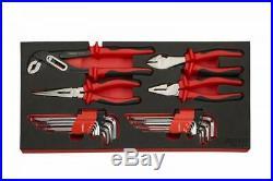Boxo 185 Piece Metric/SAE Hand Tool Set With Hand Carry 3 Drawer Metal Tool Box