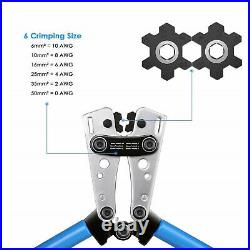 Cable Crimper and Cable Wire Cutter Tool Set for 10, 8, 6,4, 2,1/0 AWG Wire