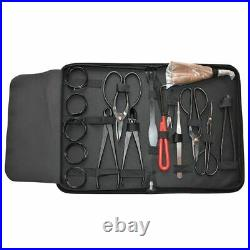 Carbon Steel Cutter Scissors Bonsai Gardening Tools Accessories Set 16pcs