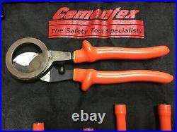 Cementex Insulated 22 Piece Tool Set Long Nut Drivers, 1/4 Socket Set, Cutter