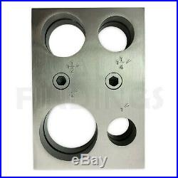 Circular round disc cutter cutting press set 4 extra large 25, 31, 38,50mm tool