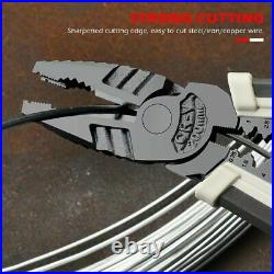 Combination Pliers Wire Stripping Cutter Insulated Terminal Crimping Tools Kit