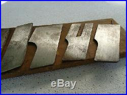 Complete Set Of Cutters For The Stanley 46 Plane