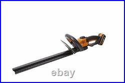 Cordless Hedge Trimmer With Dual Battery Set 45cm Blade Cutter Garden Tool