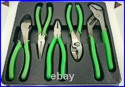Cornwell Tools DELUXE Pliers Set Lot Green Linesman Needle Nose Diagonal Cutters