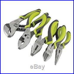 Craftsman Evolv 5 Pc. Pliers Set Piece Green Tools Needle Nose Plier Cutters