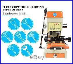 DEFU 998C Laser Copy Duplicating Machine With Full Set Cutters F Locksmith Tools