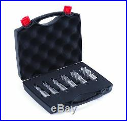 Evolution Power Tools A-CC6SET-1 CYCLONE Premium 1-Inch Annular Cutter Set wi
