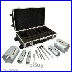 Excel 11 Pieces Dry Diamond Core Drill Kit Universal Cutter Set For Power Tools