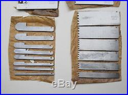 FULL SET 26 ADDITIONAL RECORD CUTTERS BLADES FOR No 405 COMBINATION PLOUGH PLANE