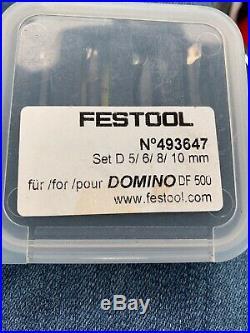 Festool 495665 Domino DF 500 Cutter Set 5,6,8,10 mm