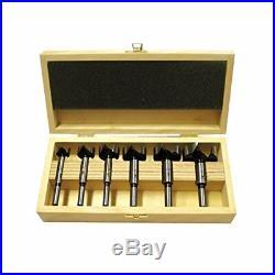 Fisch 03170006K Wave-Cutter Forstner Bit Set in Wooden Case, 0 V, SilverBeige