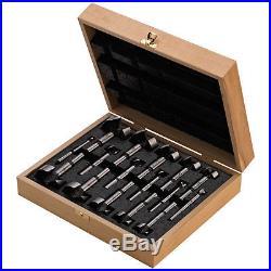 Fisch FSA-196037 1/4 Inch to 2-1/8 Inch Wave Cutter 16 Piece Drill Bit Set Box
