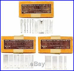 Founders Grade Set Special Cutters for Stanley No. 45 Plane-Unused-mjdtoolparts