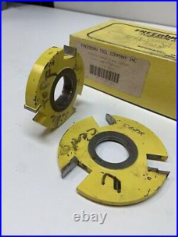 Freeborn Tool T-Alloy Tipped Shaper Cutter Shaping Cutting 1-1/4 Bore Set Of 3