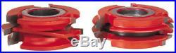 Freud UP266 2-Sided Bead Profile Shaper Cutter Set 1 Rail & Stile Door 1 1/4 B