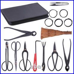 Garden Tools Carbon Steel Bonsai Tool Set Extensive 15-pc Kit Cutter Scissors