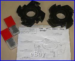 Gladu Carbide Moulder Insert Tooling Cutter Head Set 91486p01 91486m01