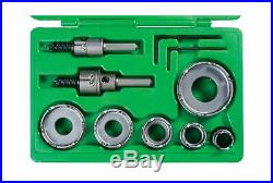 Greenlee Carbide Cutter Hole Making Quick Change Plastic Steel 9 Piece Tool 648