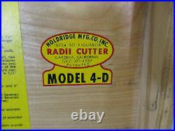 Holdridge # 4-D Radii Cutter SET, Lathe Radius Tool Set, Convex, Concave Turning