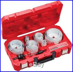 Hole Saw Kit Set Drill Bit Milwaukee 28-Piece Wood Metal Cutter with Case
