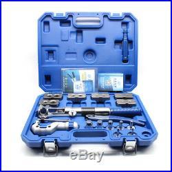 Hydraulic Flaring Tool Set Kit 18pcs Pipe Fuel Line Kit Expander + Cutter