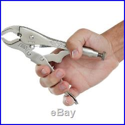 Irwin Vise Grip Set 10-Piece Locking Pliers Curved Jaw Wire Cutter Vice-Grip