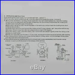 Key Duplicating Machine Key Cutting Cutter Copy Duplicator Locksmith Set Tool US