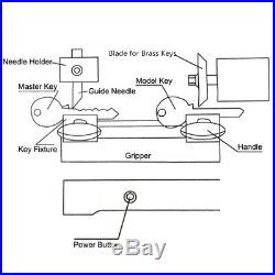 Key Duplicating Machine KeyCutting Cutter Copy Duplicator Locksmith Set Tool NEW