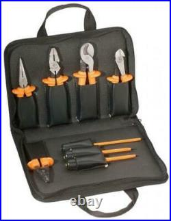 Klein Insulated Tool Set Pliers Screwdrivers Cable Cutter Wire Stripper 8 Piece