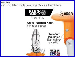 Klein Tools 4-Piece Insulated Set- Pliers+Wire Strippers+Cutters+NeedleNose Plrs