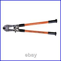 Klein Tools Bolt Cutter Fiberglass Handles Heavy Vinyl Grip Steel Jaws 30-1/2 in