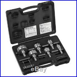 Klein Tools Hole Cutter Kit Master Electricians Cuts Quick Pilot Bits 8 Piece