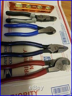 Klein Tools Pliers And Cutters Set of 5 PiecesNew open Package