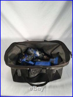 Kobalt Drill & Cutter Set With Tool Bag And 3 Batteries