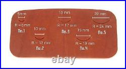Leather Edge Round Cutter ver. 1, durable steel Corner Round Punch Set. P000000K