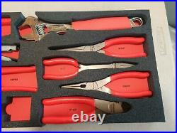 Lot of 8 Snap On Tools (Pliers, Adjustable Wrench, Cutter)
