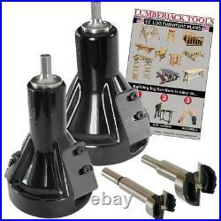 Lumberjack Tools T26560 Commercial Series Kit 60 Degree Tenon Cutter Set