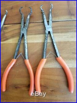 MATCO TOOL 11 PIECE ORANGE Bent Needle Nose Cutter HOSE GRIP PLIERS SET Quality