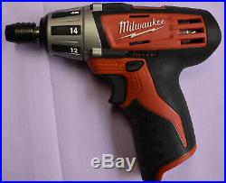 MIlwaukee 2490-24 (12V 4pc Tool Set) Sawzall, Driver, Light & Tubing Cutter MINT