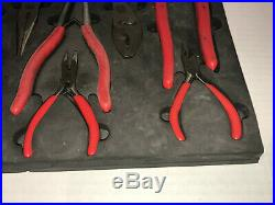 Mac Tools 14 Piece Plier Set & Tray Holder Cutter Needle Nose Hose Gripper