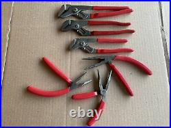 Mac Tools 6pc Adjustable Pliers Cutters Needle Nose Angled