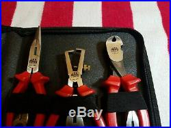 Mac Tools Needle Nose Side Cutters Pliers Kit P301985 6 Pc Set With Case