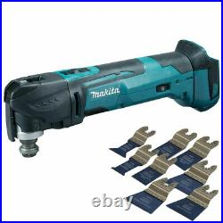 Makita DTM51Z 18V Oscillating Multi Tool Cutter with 8 Piece Accessories Set