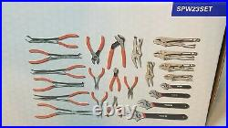 Matco Tools 23PC Pliers And Wrench Set SPW23SET Needle Nose Cutters Wrenches
